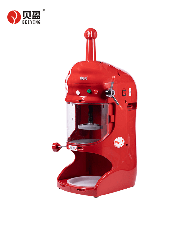 BY-128-Red shaved industrial ice shavers machine for ice snow shaver