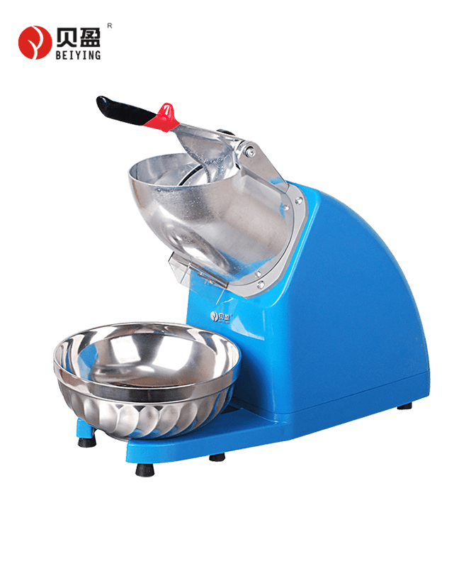 BY-300A-Electrical double blades cone industrial ice crusher machine for commercial use